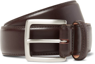 George Cleverley 3.5cm Dark-Brown Leather Belt