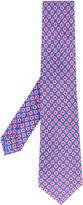 Kiton geometric print tie - men - Linen/Flax - One Size