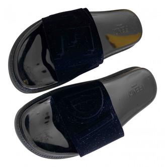 Fendi Black Suede Sandals