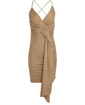 Significant Other Deia Ruched Sleeveless Mini Dress
