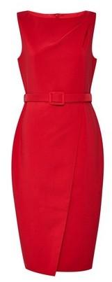 Dorothy Perkins Womens Red Belt Wrap Detail Dress, Red