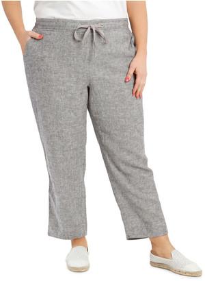 Regatta Linen Blend Straight-Leg Pant