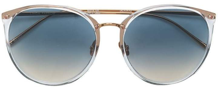 Linda Farrow oversized tinted sunglasses