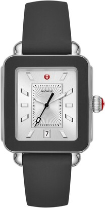 Michele Deco Sport Watch Head & Silicone Strap, 34mm x 36mm