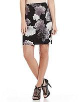 Calvin Klein Petites Contrast Floral Knit Pencil Skirt