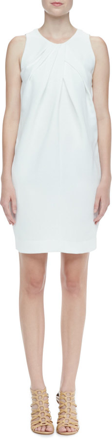 L'Agence Draped Sleeveless Dress