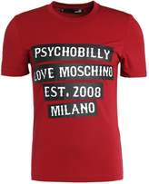 Love Moschino Psychobilly Slim Fit Print Tshirt Red