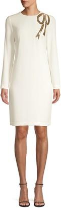 Trina Turk Eastern Luxe Muraski Sequin Bow Shift Dress