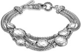 John Hardy Women's Dot Triple Row Bracelet in Hammered Sterling Silver