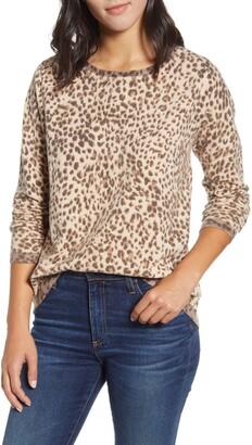 Wit & Wisdom Back Button Long Sleeve Sweater
