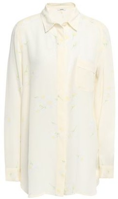 Ganni Floral-print Washed-silk Shirt