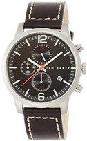 Ted Baker Men's TE1132 Classic Vintage Analog Display Japanese Quartz Black Watch