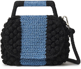 M Missoni Pompom-embellished Metallic Crocheted Tote