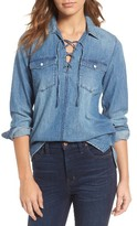 Madewell Women's Lace-Up Denim Shirt