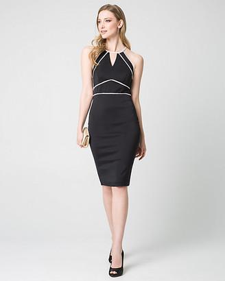 Le Château Double Weave Halter Shift Dress
