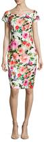 Alexia Admor Floral Printed Boatneck Sheath Dress