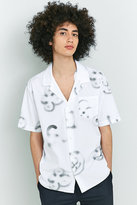 Soulland Cornwall White Printed Short-sleeve Shirt