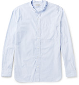 Margaret Howell - Slim-fit Grandad-collar Striped Cotton Shirt