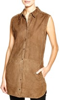 Vince Sleeveless Suede Tunic
