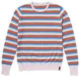 Kule Raven Multi Stripe Crew Neck Sweater