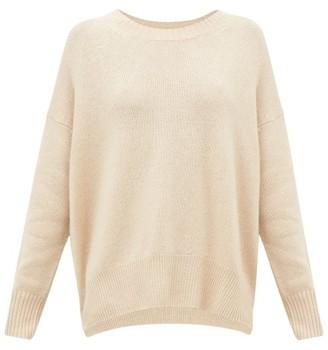 Allude Round-neck Cashmere Sweater - Womens - Beige