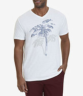Nautica Palm Tree Graphic V-Neck Short-Sleeve Tee
