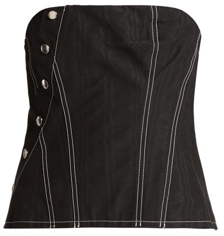 Marques Almeida Marques'almeida - Snap Cotton Blend Corset - Womens - Black
