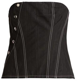 Marques Almeida Marques'almeida - Snap Cotton-blend Corset - Womens - Black