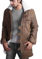 Feather Skin BANE Coat 'Tom Hardy - Dark Knight Rises' Vintage Distressed Look Leather Jacket - Large