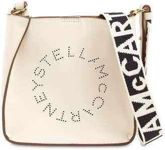 Stella McCartney HOBO LOGO FAUX LEATHER SHOULDER BAG