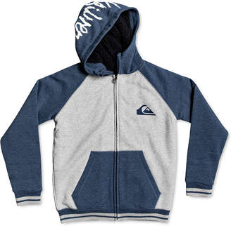 Quiksilver Quiksliver Big Boys Colorblocked Faux-Fur-Lined Hoodie