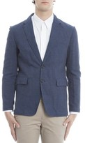 Burberry Men's Blue Cotton Blazer.