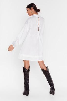 Nasty Gal Womens If You Never Tie High Neck Mini Dress - White - 12