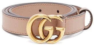 Gucci GG Monogram-buckle Leather Belt - Womens - Pink