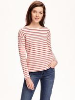 Old Navy Relaxed Heavy-Knit Boat-Neck Tee for Women