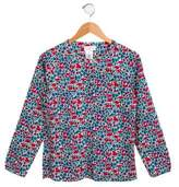 Jacadi Girls' Floral Button-Up Top