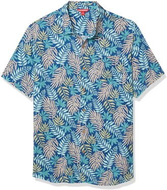 UNIONBAY Men's Short Sleeve Rayon Button-up Woven Shirt