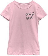 Fifth Sun Pink 'Get It Girl' Crewneck Tee - Girls