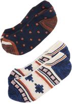 Madewell Rustic Pattern / Mini Dot No Show Sock Set