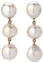 Retrouvaí Three Pearl Drop Earrings