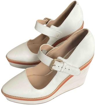 Max Mara White Leather Sandals