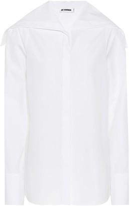 Jil Sander Sailor collar cotton shirt