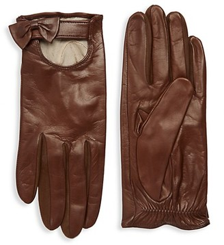 Portolano Bow Leather Gloves