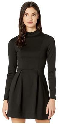 BCBGeneration Day Long Sleeve Knit Dress XGN6252431 (Black) Women's Clothing