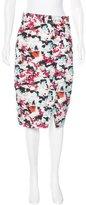 Carolina Herrera Knee-Length Abstract Print Skirt