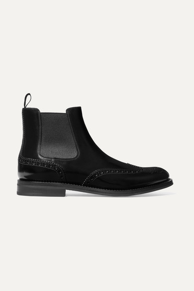 Church's Ketsby Glossed-leather Chelsea Boots - Black