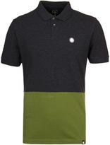 Pretty Green Easton Dark Grey Panel Polo Shirt