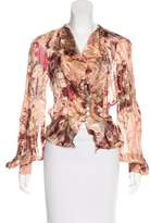 Christian Lacroix Semi-Sheer Silk Top