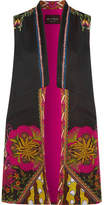 Etro Satin-trimmed Printed Faille Vest - Black