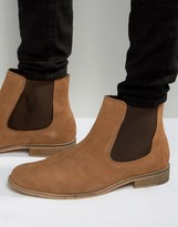 Dune Chelsea Boots In Perforated Suede